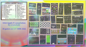 "32 classic Apple II games on 3.5"" disk by cvxmelody"