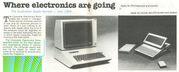 Apple IIc wins CES Chicago computer award (1984)