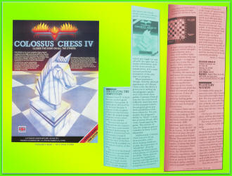 Colossus Chess IV advertisement & review (1986)