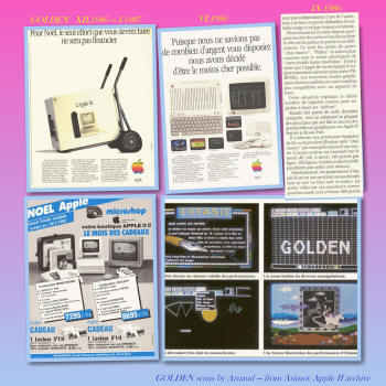 French ads Apple IIc colour system - GOLDEN magazine (1986-87)