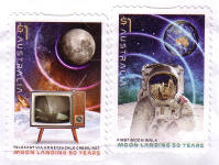 Moon Landing 50th Anniversary stamps (2019 Australia)