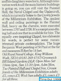 Greenwich 1999 attractions (TimeOut article)